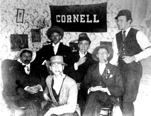 leo-frank-with-pipe-chums-cornell