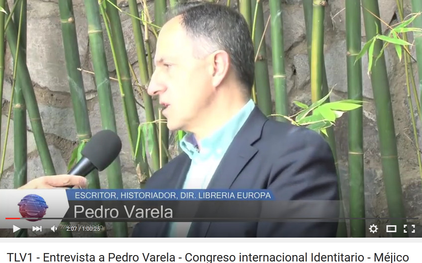 Pedro Varela Geiss, National Socialist, great revisionist, publisher, leader and bookstore owner in Barcelona, Spain flees as lackeys of the Jews seal his bookstore shut and arrest four supporters