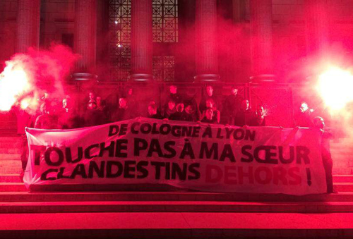 protest-torch-illegals-generation-identity-lyon-France