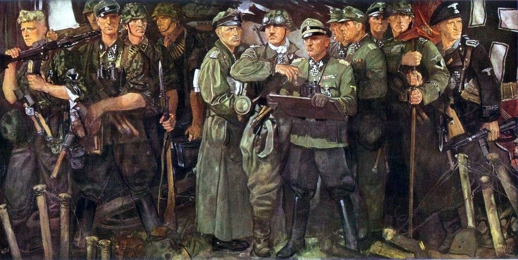 waffen-ss-groups-oil-painting