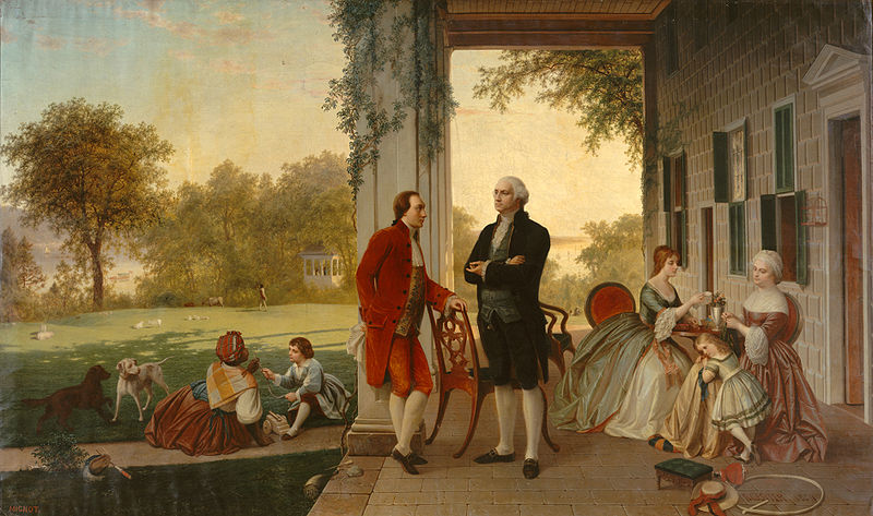 800px-Washington_and_Lafayette_at_Mount_Vernon,_1784_by_Rossiter_and_Mignot,_1859