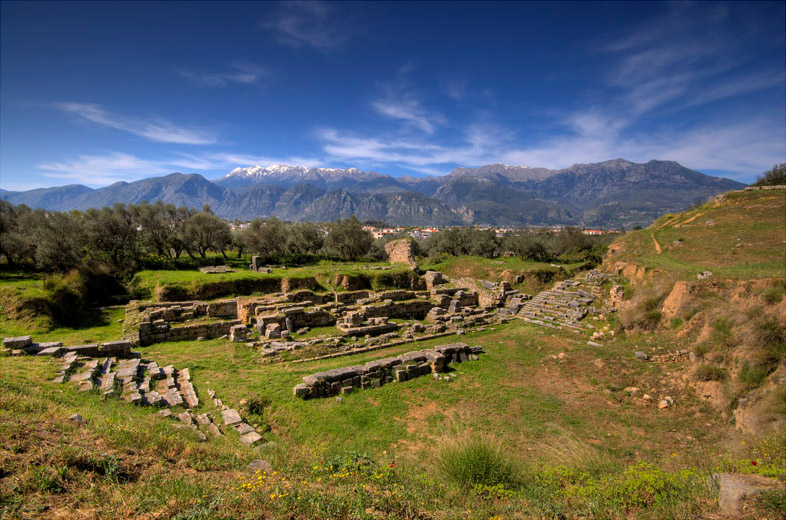 Ancient_sparta_theater-mt-taygetus