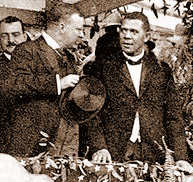 Booker_Washington_and_Theodore_Roosevelt_at_Tuskegie_Institute-1905-cropped