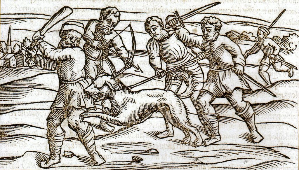 Middle_Ages_europeans-attack-rabid_dog