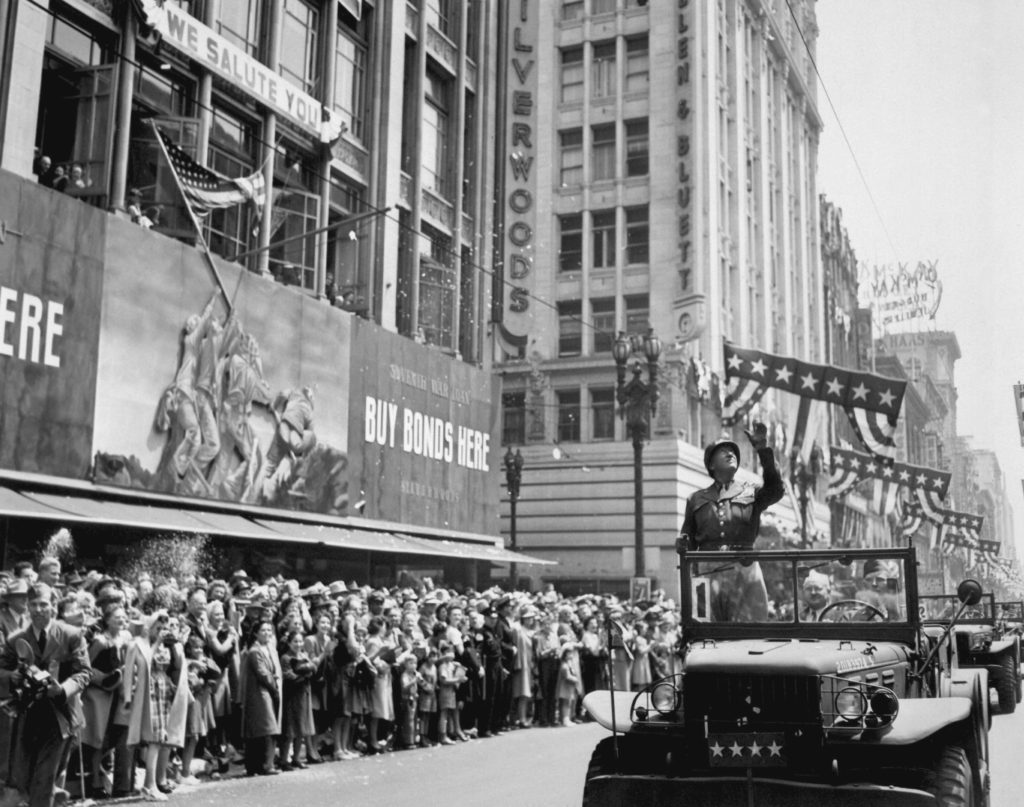 Patton_during_a_welcome_home_parade_in_Los_Angeles,_June_9,_1945