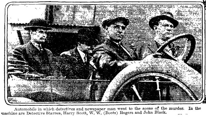 atlanta-constitution-IMAGE-july-20-1913-leleo-frank-trial-car-detectives-starnes-harry-scott-boots-rogers-john-black-scene-of-crime
