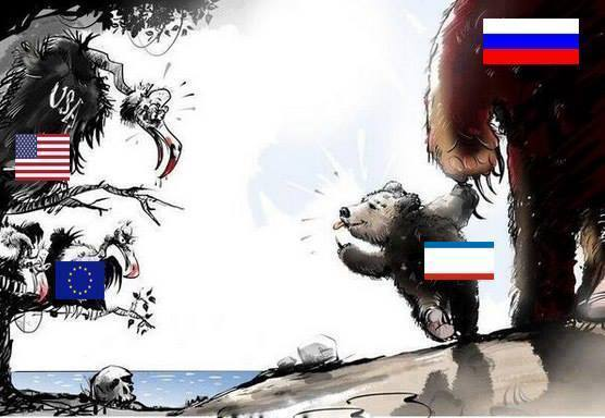 baby-bear-crimea-with-big-bear-russia-raspberries-uncle-sam-vulture