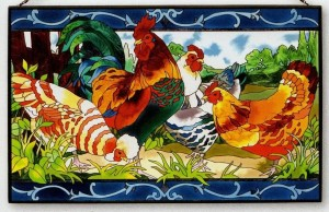 country-french-rooster-hens
