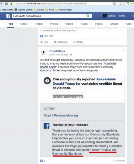 facebook-no-violation-assassinate-trump-page