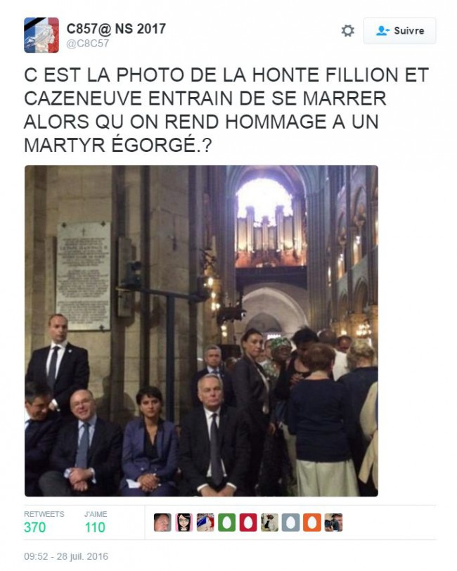 fillon-cazeneuve-laugh-mass-paris-notre-dame