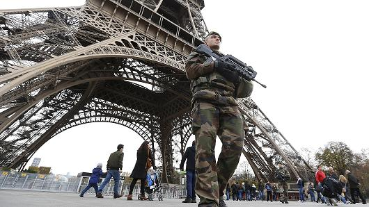 french-soldier-eiffel-tower-paris-france