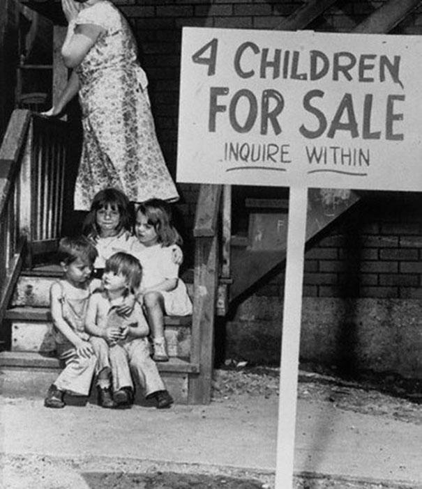 great-depression-four-children-for-sale