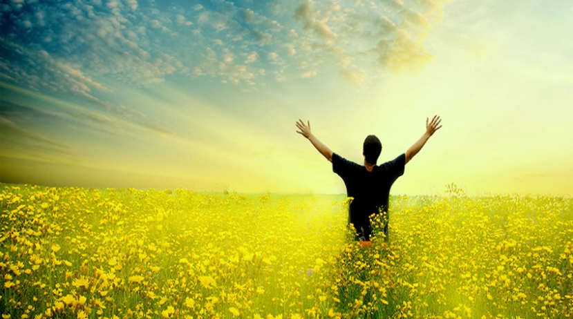 heaven-man-upraised-arms-cornfield-glowing-yellow
