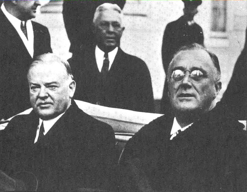 hoover-FDR-1933-inauguration