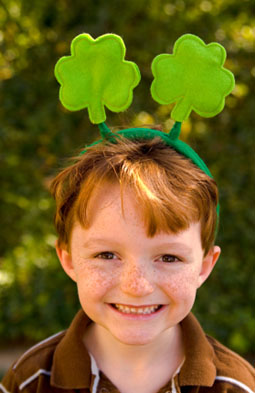 irish-girl with shamrocks