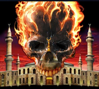 islam-burning-skull