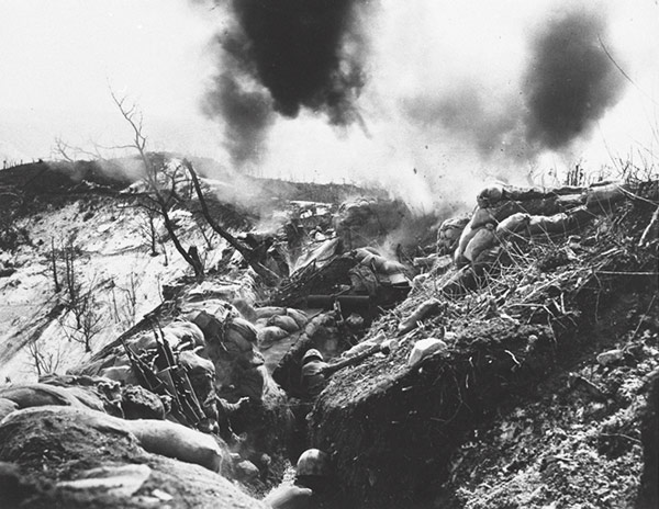 marines-trenches-korea-chinese-88-mm-mortar-bombardment