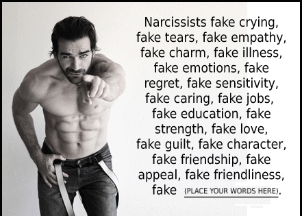 narcissist-fake