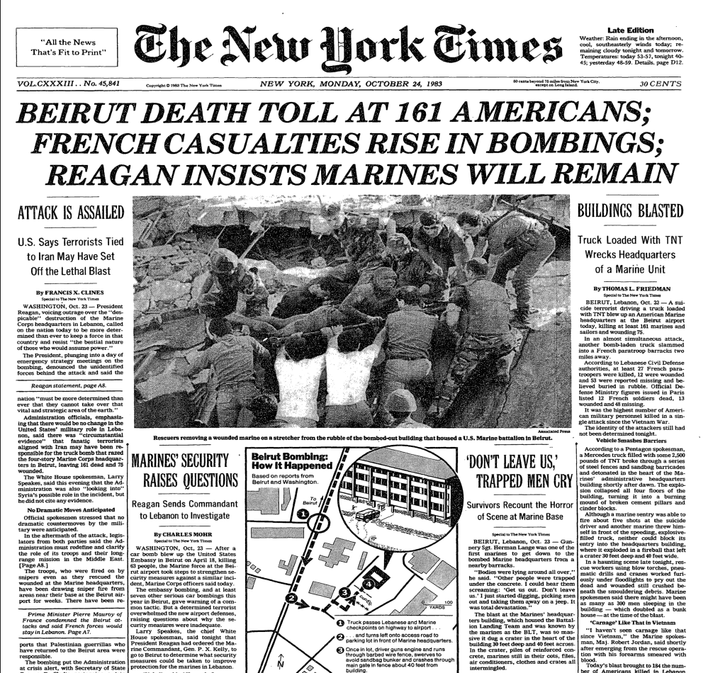 nyt-lebanon-marines-1983-barracks-bombing