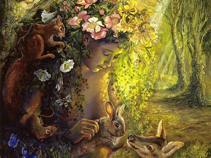 ostara-prays-rabbit-fawn-squirrel