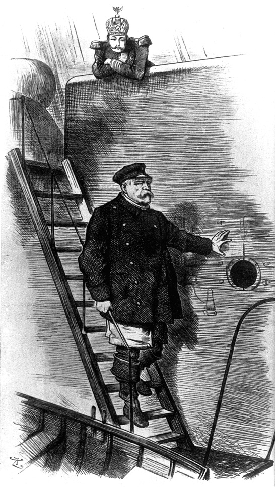"1815 - 1898 Politiker, Deutschland Karikatur aus Punch 29.3.1890 'Der Lotse geht von Bord' (Dropping The Pilot) von John Teniel ""english_caption"" Otto von Bismarck, German politician. Caricature ""The pilot disembarks"" by John Teniel published in ""Punch"" 03.29.1890: ""english_end"""