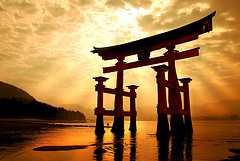 shinto-arch-in-water-japan