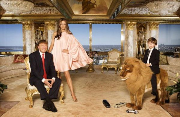 trump-wife-child-trump-tower-gold