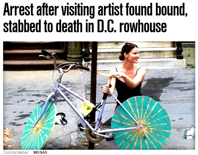 Another gifted white female artist murdered by a muslim